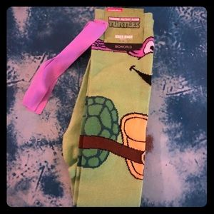 💚Ninja Turtles Donatello Knee High Socks! NWT!